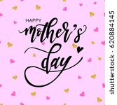 happy mothers day hand drawn... | Shutterstock .eps vector #620884145