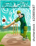 concept of sportsman playing... | Shutterstock .eps vector #620885687