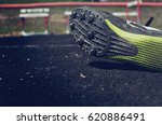 athlete wearing spikes for... | Shutterstock . vector #620886491