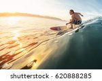 Surfer Rides The Perfect Ocean...