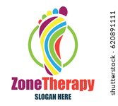 reflexology  zone therapy logo... | Shutterstock .eps vector #620891111
