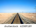 Railroad Tracks Into Horizon