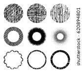 vector set of of black circle...   Shutterstock .eps vector #620894801