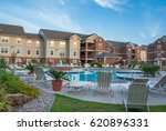 apartment complex with... | Shutterstock . vector #620896331