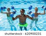 aqua fitness concept.  two...   Shutterstock . vector #620900231