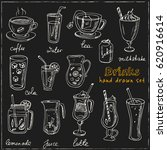 vector set with beverages hand...   Shutterstock .eps vector #620916614