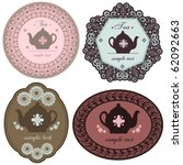 teapot labels | Shutterstock .eps vector #62092663