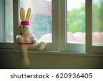 Rabbit Bunny Doll Sitting On...