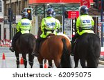 Mounted police unit in united...