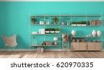 eco turquoise interior design... | Shutterstock . vector #620970335