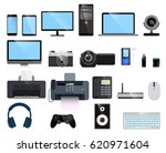 set of a modern flat icons on... | Shutterstock .eps vector #620971604