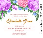 bridal shower invitation... | Shutterstock .eps vector #620976101