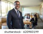 african american ceo boss... | Shutterstock . vector #620983199