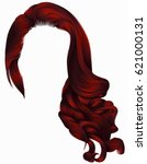 woman trendy long curly hairs... | Shutterstock .eps vector #621000131
