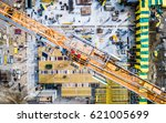 busy construction site and... | Shutterstock . vector #621005699
