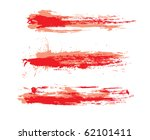 abstract grunge brushes used in ... | Shutterstock .eps vector #62101411
