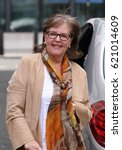 Small photo of LONDON - MAR 04, 2017: Pauline Collins seen at the BBC Radio Two studios in London
