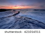 back to the sea   beach of s o... | Shutterstock . vector #621016511