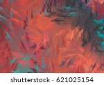 brushed painted abstract... | Shutterstock . vector #621025154