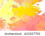 brushed painted abstract... | Shutterstock . vector #621027701