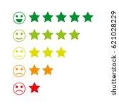 feedback emoticon. rank or... | Shutterstock .eps vector #621028229