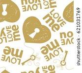 love pattern. abstract seamless ... | Shutterstock .eps vector #621031769