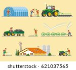 farming elements collection... | Shutterstock .eps vector #621037565