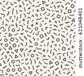 scattered geometric shapes.... | Shutterstock .eps vector #621048401
