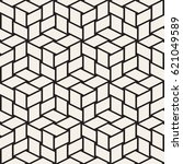 cubic grid tiling endless... | Shutterstock .eps vector #621049589