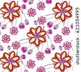 wedding card or invitation... | Shutterstock .eps vector #621054995