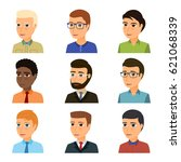 collection of avatars of... | Shutterstock .eps vector #621068339