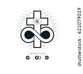 everlasting christian belief in ... | Shutterstock .eps vector #621079019