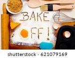 baking   bake off   written in... | Shutterstock . vector #621079169