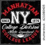 new york sport wear typography...   Shutterstock .eps vector #621080405