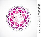 3d vector digital wireframe... | Shutterstock .eps vector #621083531