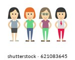 business dressed and casual...   Shutterstock .eps vector #621083645