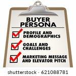 buyer persona clipboard... | Shutterstock . vector #621088781