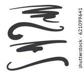 vector swooshes  swishes ... | Shutterstock .eps vector #621099641