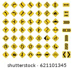 traffic signs pack set | Shutterstock . vector #621101345