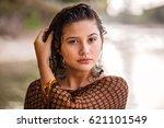 centre portrait style of...   Shutterstock . vector #621101549