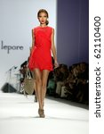 Small photo of NEW YORK - SEPTEMBER 15: A model walks the runway at the Nanette Lepore collection presentation for Spring/Summer 2011 during Mercedes-Benz Fashion Week on September 15, 2010 in New York
