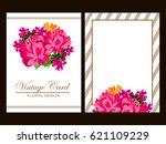 romantic invitation. wedding ... | Shutterstock . vector #621109229