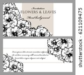 vintage delicate invitation... | Shutterstock .eps vector #621109475