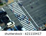People Crossing At Pedestrian...