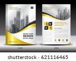 business brochure flyer...   Shutterstock .eps vector #621116465