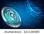 abstract technology concept... | Shutterstock .eps vector #621130085