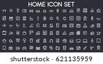 home icon set | Shutterstock .eps vector #621135959