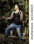 lumberjack with axe | Shutterstock . vector #621136025