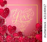 valentine hearts abstract... | Shutterstock . vector #621140417