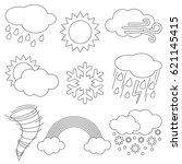 different weathers elements set ... | Shutterstock .eps vector #621145415